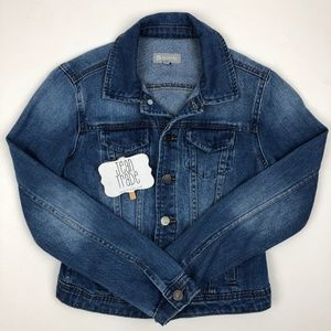 Tractr Girls Basic Slim Denim Jacket